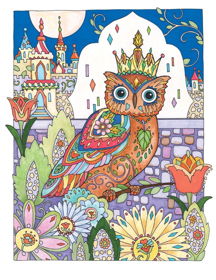 Pin By Adri V D S On Marjorie Sarnat Coloring Pages Owl Coloring Pages Coloring Books Creative Haven Coloring Books