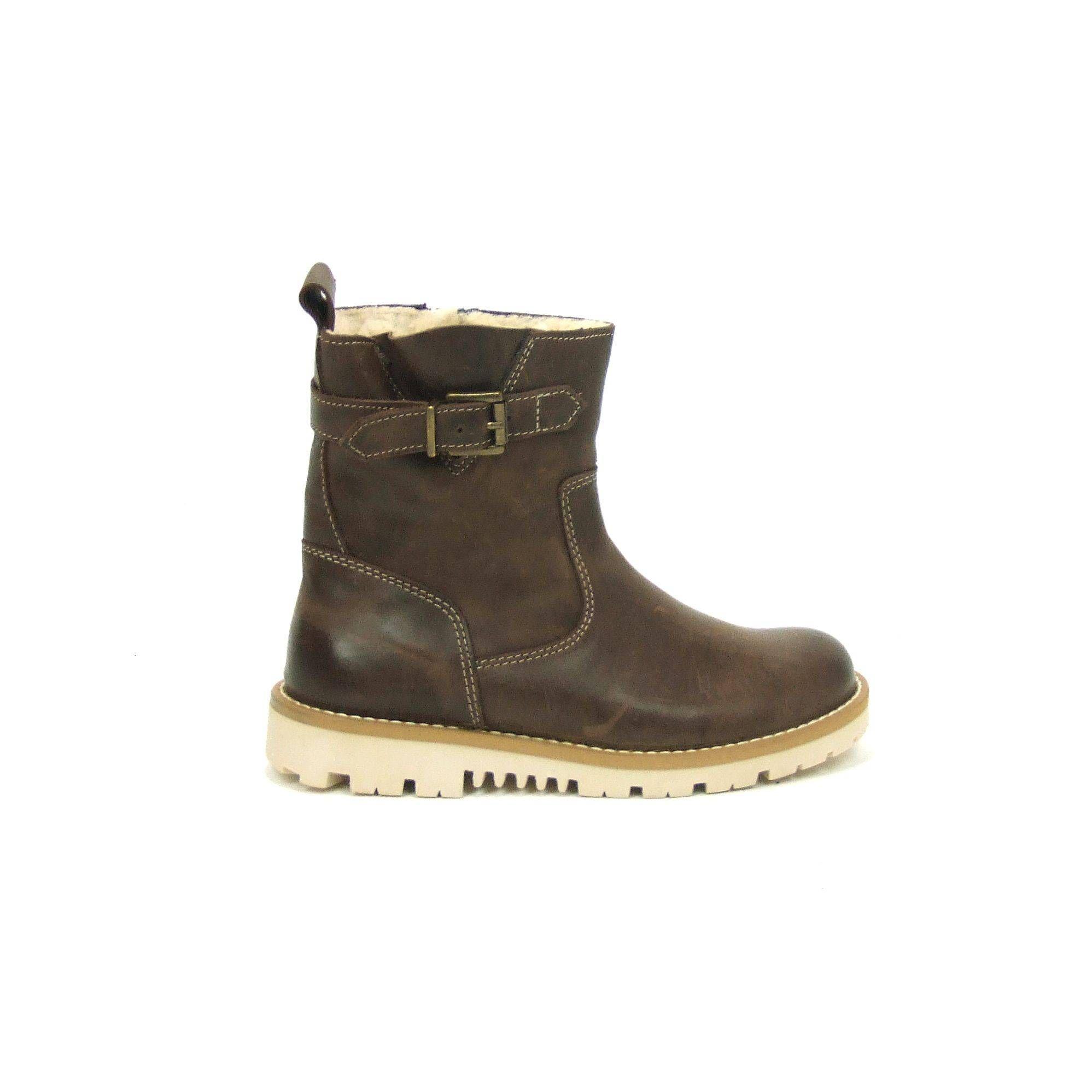 7bd394f8a0e Stoere jongens boots van Pinocchio, model P2254! Uitgevoerd in donkerbruin  glad leder met opvallende