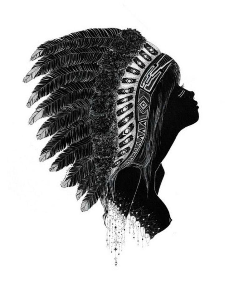 Native american indian head dress <3