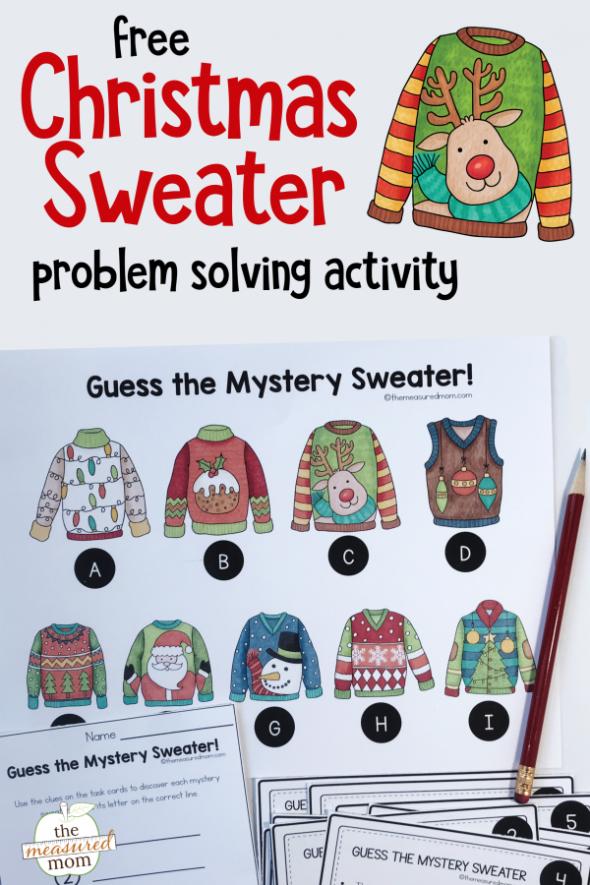 Fun new printable Christmas problem solving activity
