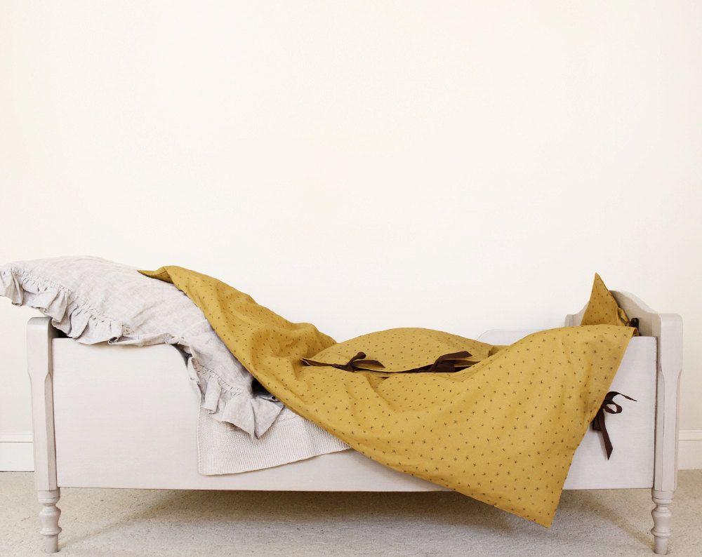 Best Organic Toddler Bedding Set Mustard Yellow Brown Little 400 x 300