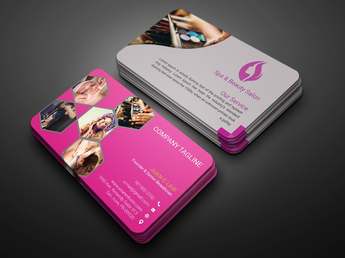 Spa Beauty Salon Business Card On Behance Salon Business Cards Beauty Salon Business Cards Salon Business Cards Design