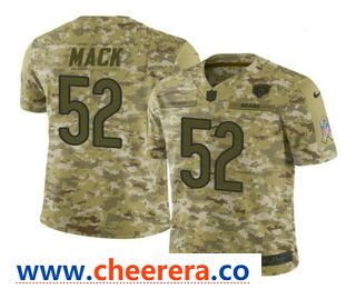 Men's Chicago Bears #52 Khalil Mack 2018 Camo Salute to Service  for cheap