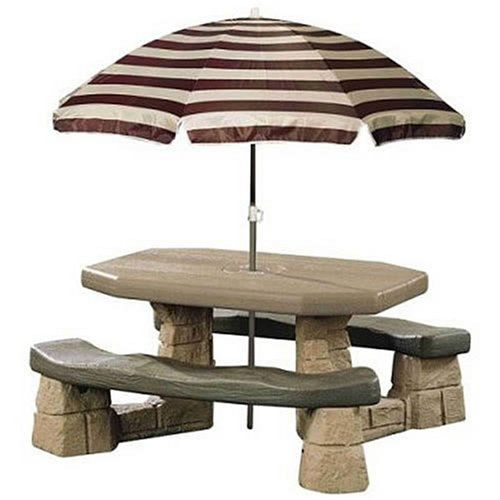 Kids Picnic Tables Step2 Naturally Playful Table With Umbrella Click