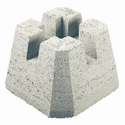 Decor Precast 4 Way Dek Block 12059028 Home Depot