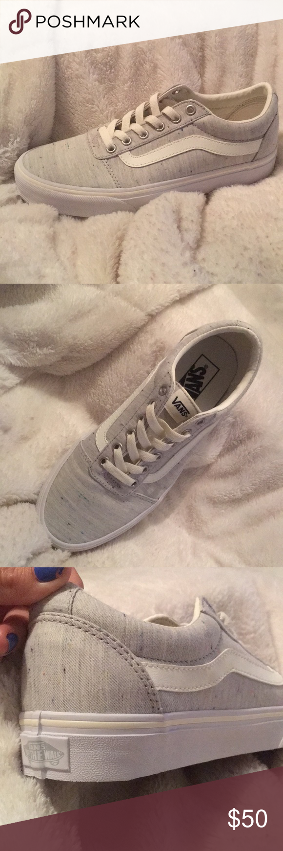 44c8193dbeb003 BRAND NEW ! . Jersey speckled old school vans So cute !!! I am ...