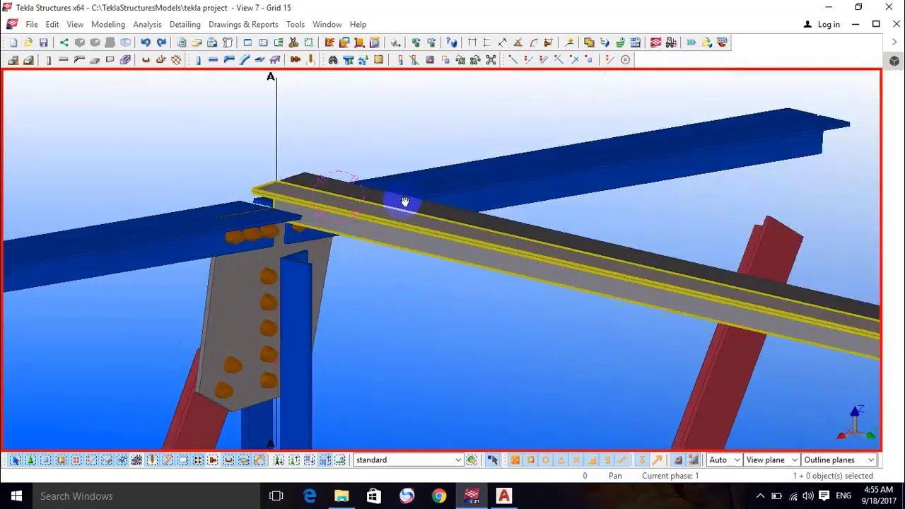 Tekla Steel Project (27) - دورة اعداد مهندس تصميم منشات