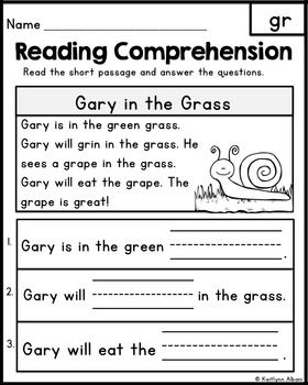 FREE Reading Comprehension Passages - Word Families & Blends ...