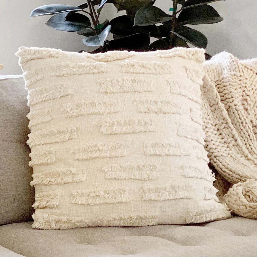 Renzo Fringe Throw Pillow Paynes Gray In 2020 Throw Pillows Pillows Fringe Throw