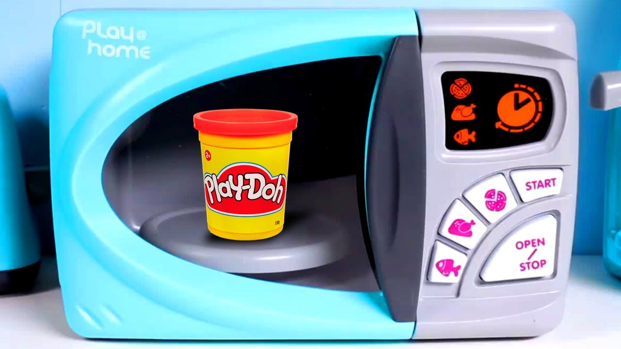 Play Home Microwave Oven Toy Doh Just Like Cutting Food Cooking