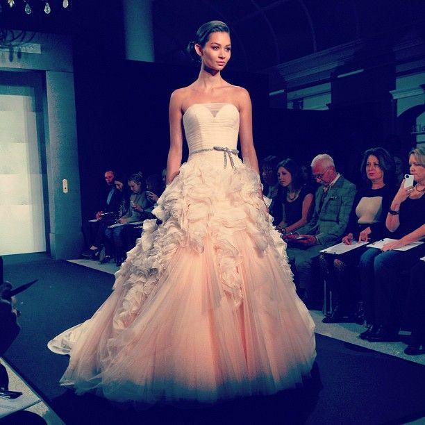 Kleinfield Pink Wedding Dress On The Mark Zunino Runway At