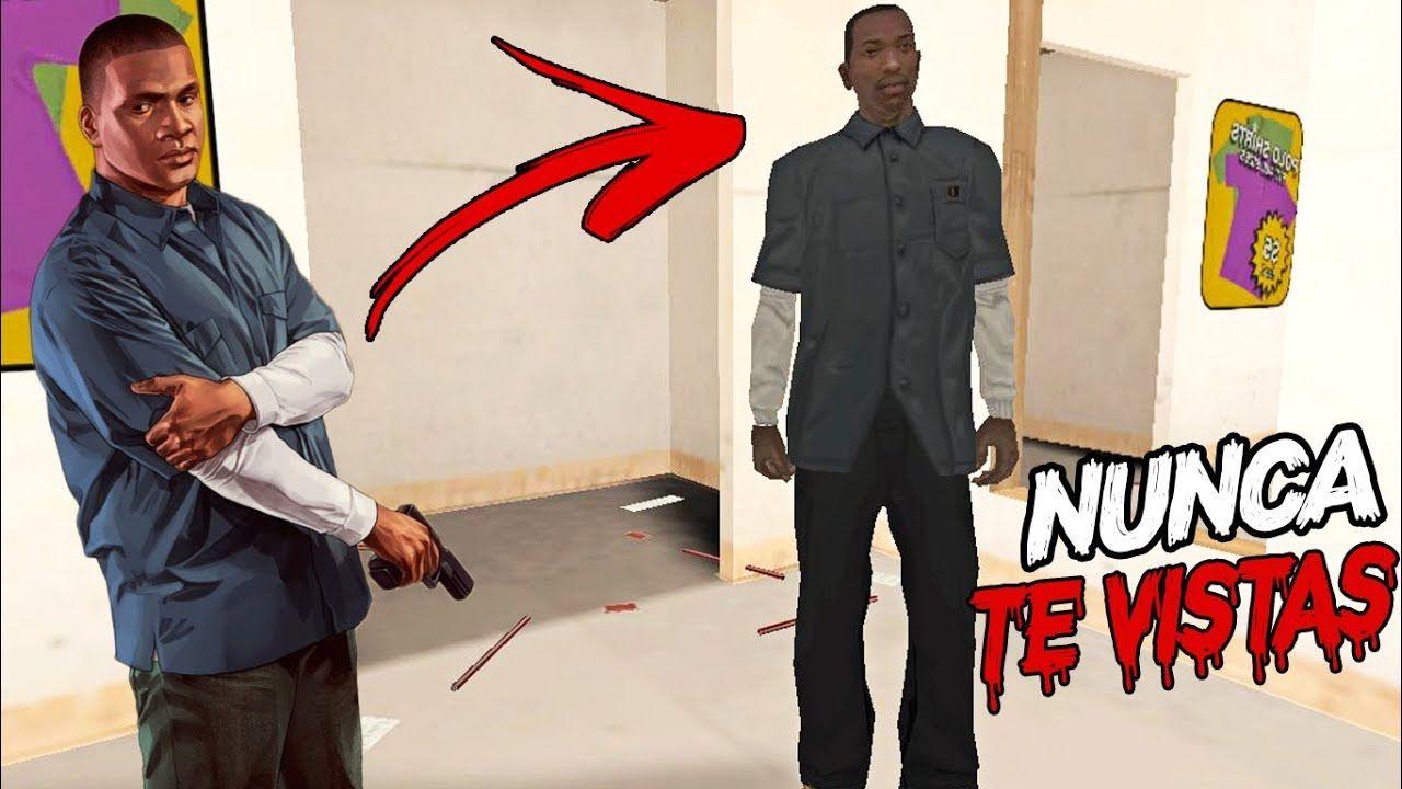 Nunca te vistas como FRANKLIN de GTA 5 en GTA SAN ANDREAS