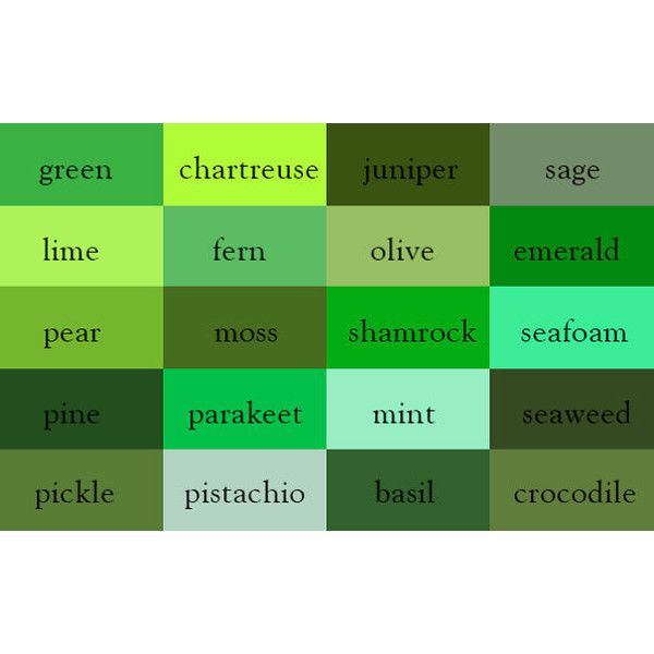 Writer Creates Color Thesaurus To Help You Correctly Name Any Color Liked On Polyvore Featuring Colors Gree Green Colour Palette Sage Color Green Paint