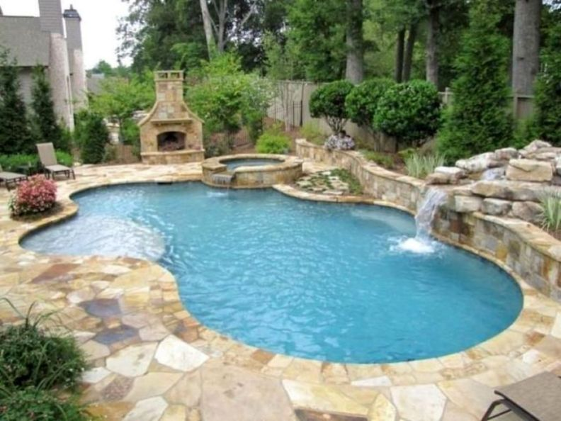 30 Brilliant Backyard Design Ideas With Swimming Pool That Look