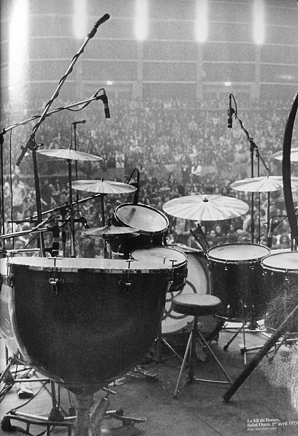 John Bonham S Drum Kit C 1973 Led Zeppelin Drum Sets