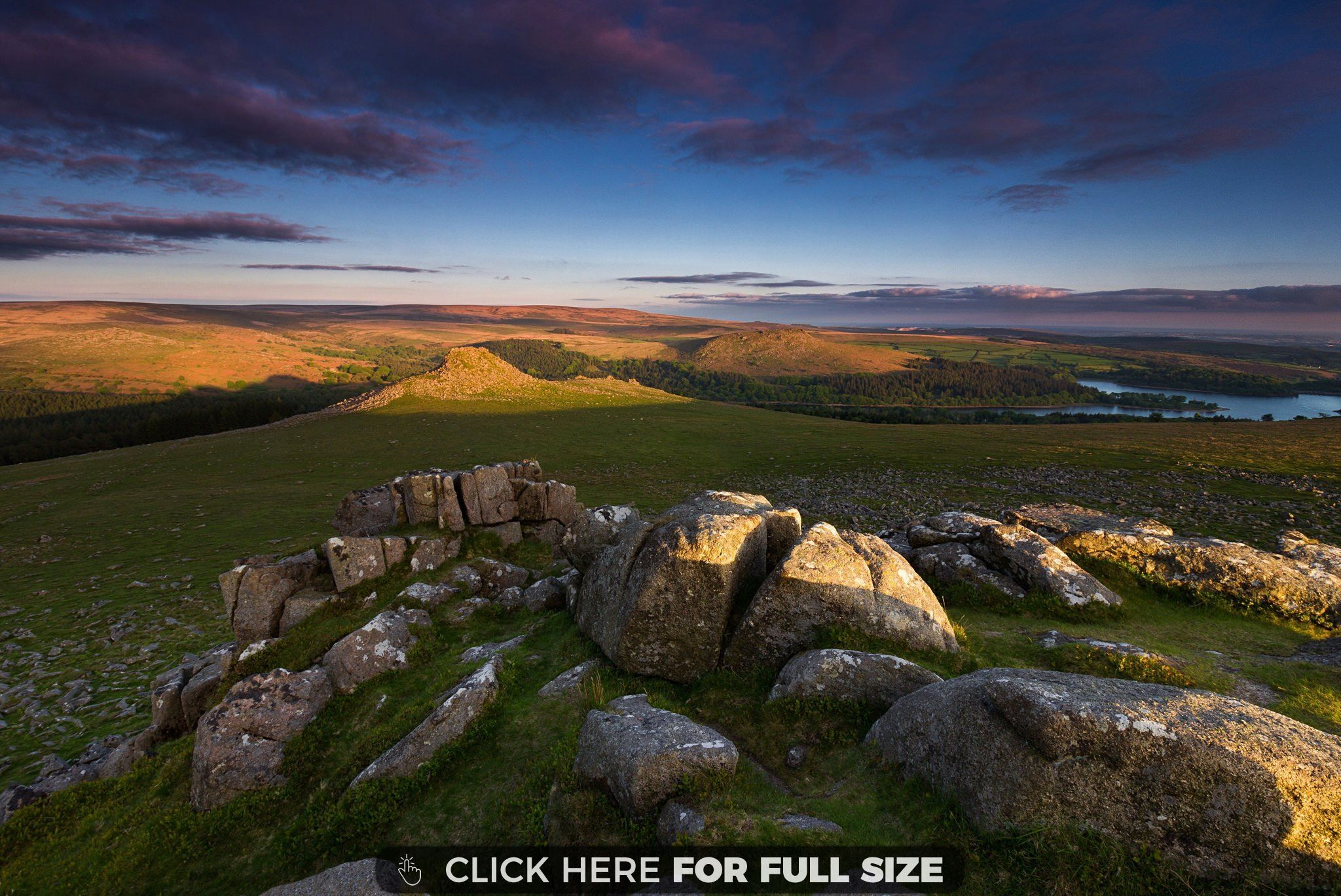 Last Light on Leather Tor Dartmoor, Some beautiful