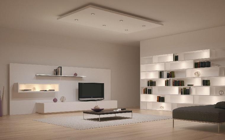 Minimalistische Innenausstattung 85 Zimmer In Schwarz Und Weiss Beleuchtung Wohnzimmer Led Beleuchtung Wohnzimmer Beleuchtungsideen
