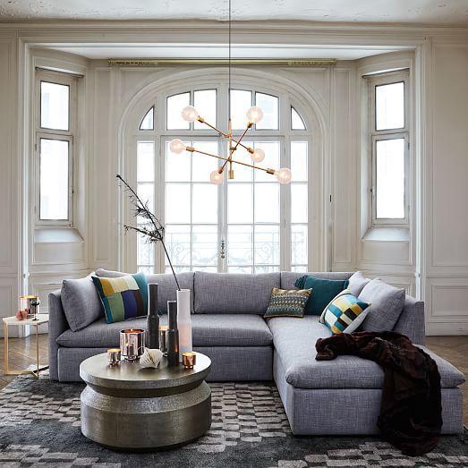 Trellis Shine Wool Rug Slate West Elm Small Modern Living Room Living Room Design Modern Mobile Chandelier