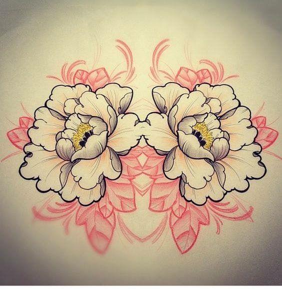 pingl par damien oguey sur pivoines pinterest tatuaje margarita tatuajes et dibujos tattoo. Black Bedroom Furniture Sets. Home Design Ideas