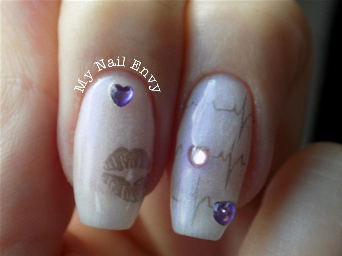 Nail Stamping Over Gel Polish Nail Tutorial Nail Art Nail Stamping
