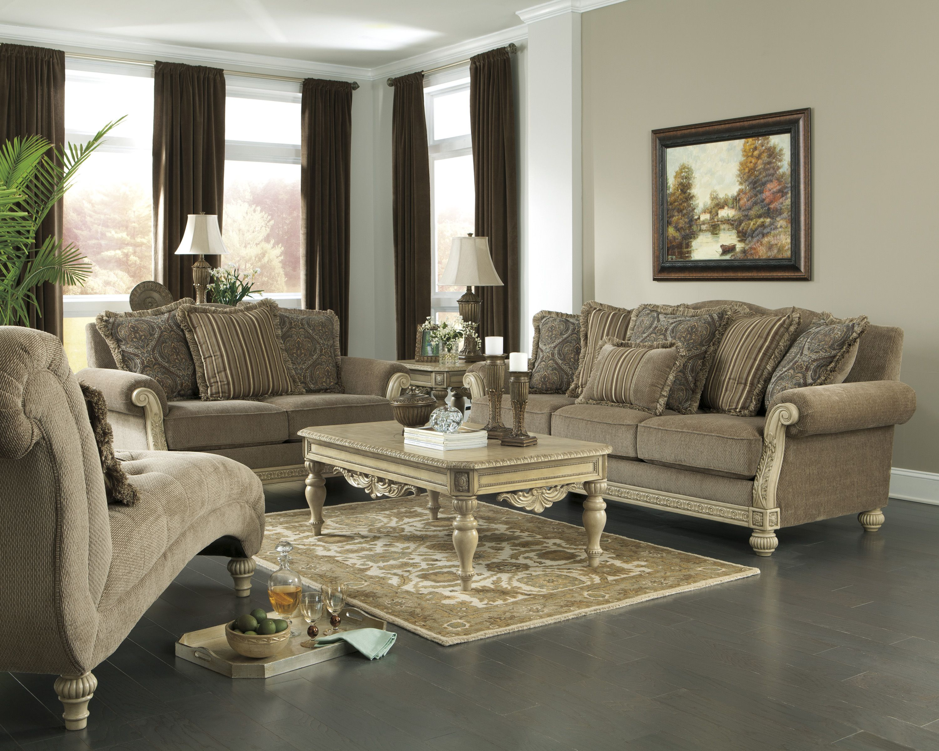 Parking Bay Platinum Collection Ashley Furniture Sofa - Ashley furniture living room table set