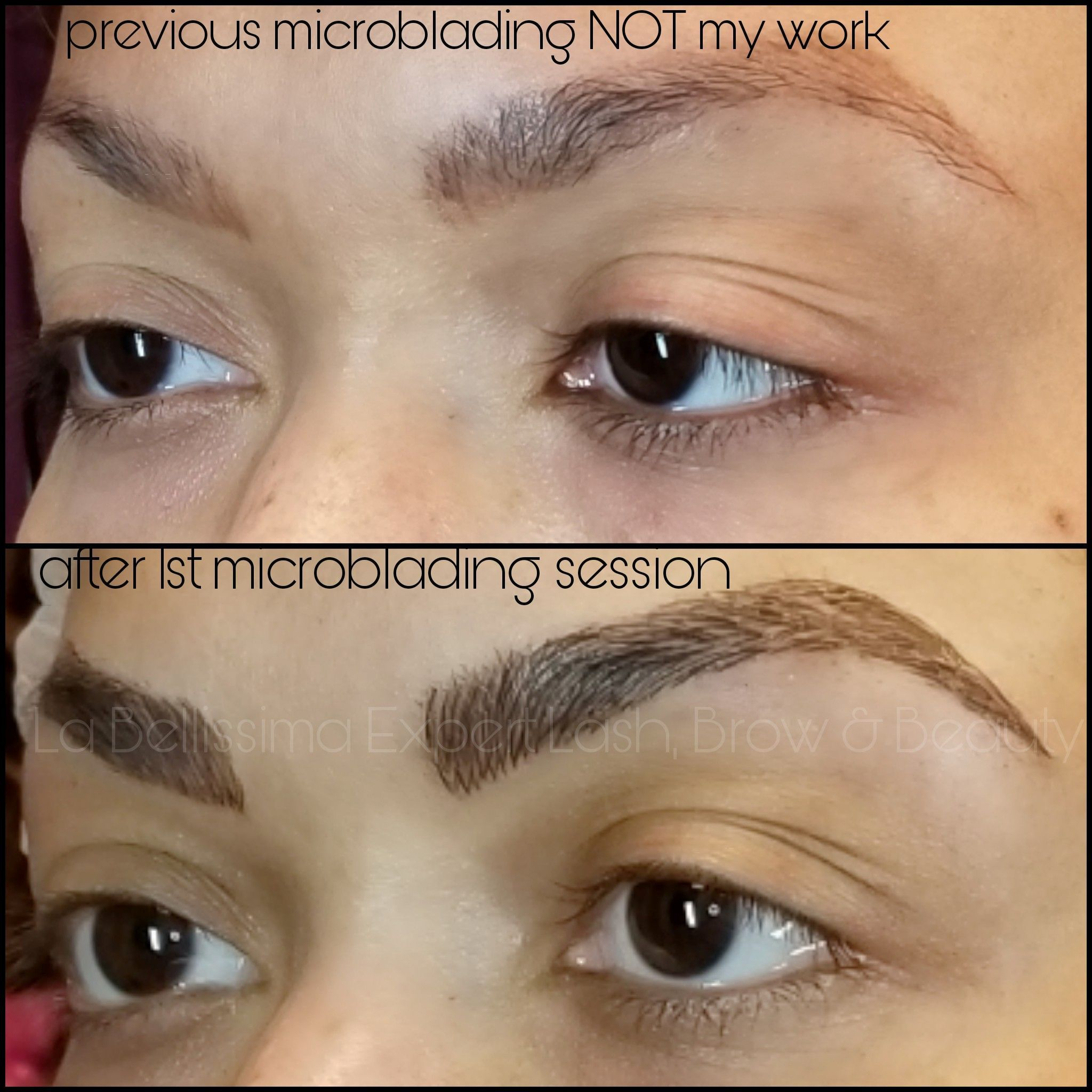 Before (previous faded, slightly orange microblading not my