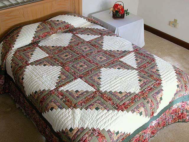 log cabin hidden star quilt | Log Cabin Star Quilt -- exquisite ... : lone star log cabin quilt pattern - Adamdwight.com