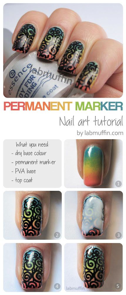 Permanent Marker Nail Art Tutorial Aka Im Nail Macgyver 1 Nails