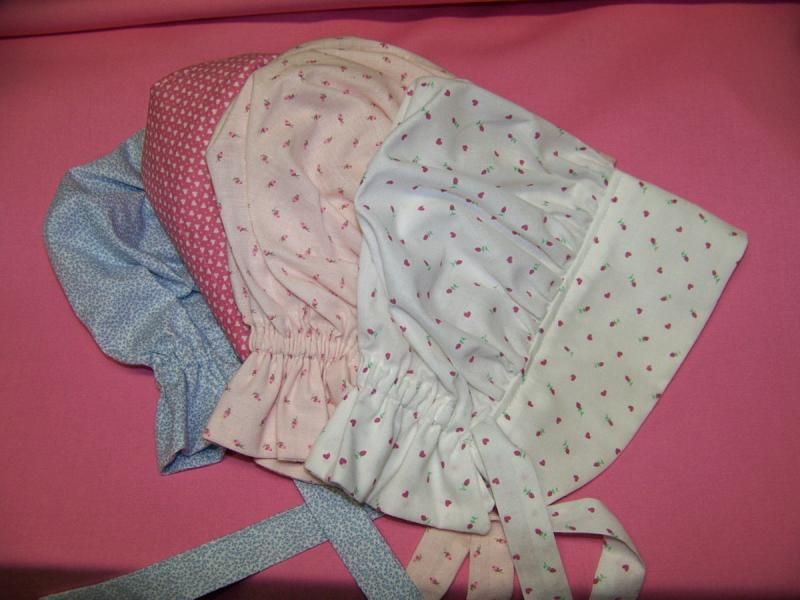 free baby bonnet patterns to sew | Baby Prairie Bonnet pdf pattern ...