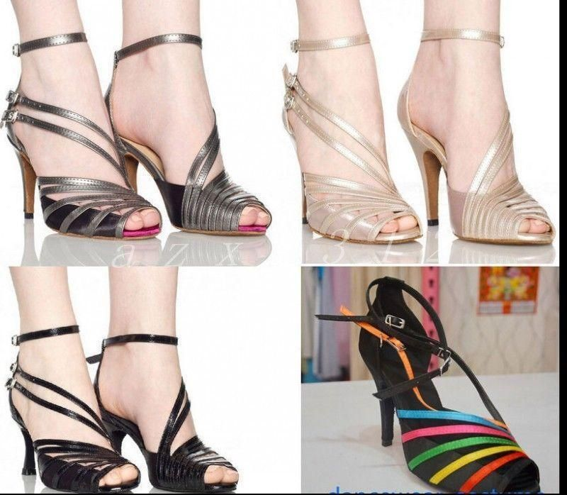 8c0ee159faa Womens Open Toe Dancing Straps Summer Dancing Latin Square Outdoor Tange  Shoes