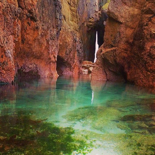 Rock Pools At Nanjizal Cornwall Kernow Nanjizal Trevescan