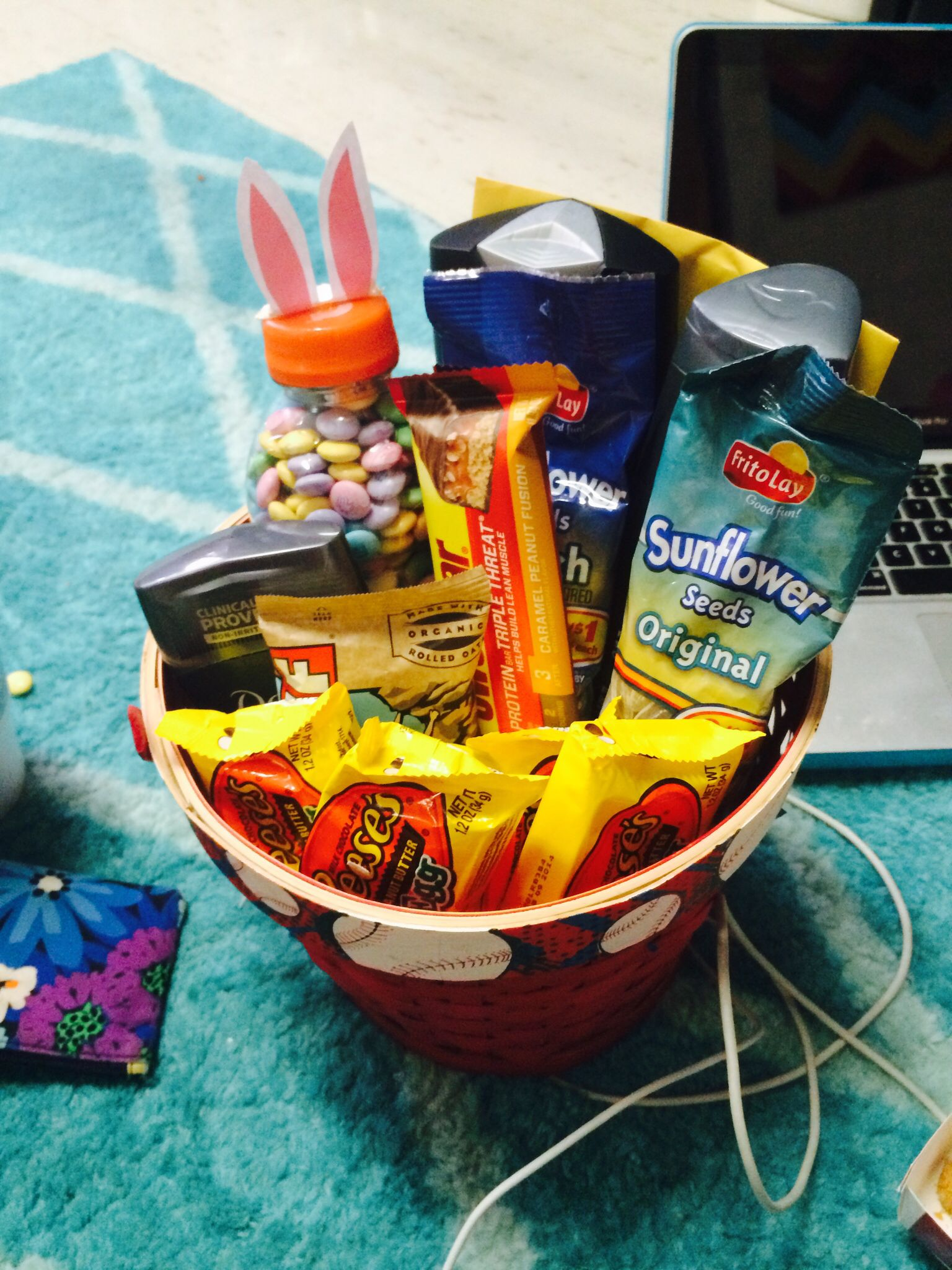 Made this easter basket for my boyfriend easterforboyfriend diy made this easter basket for my boyfriend easterforboyfriend diy negle Choice Image