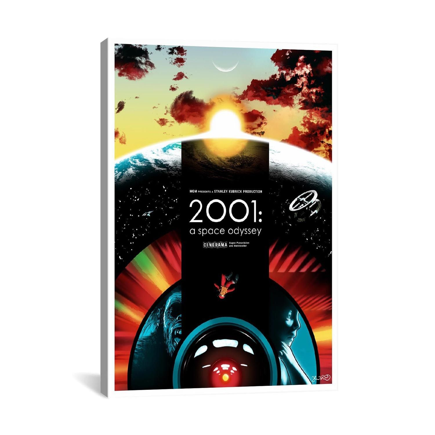 2001: A Space Odyssey Pay tribute to your favorite icons of music and cinema, with this collection of colorful prints by Joshua Budich. Faithfully reproduced on top-quality canvas, e...