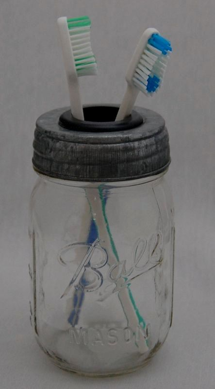 pint mason jar toothbrush holder by abathshoppe on etsy With what kind of paint to use on kitchen cabinets for mason jars candle holder