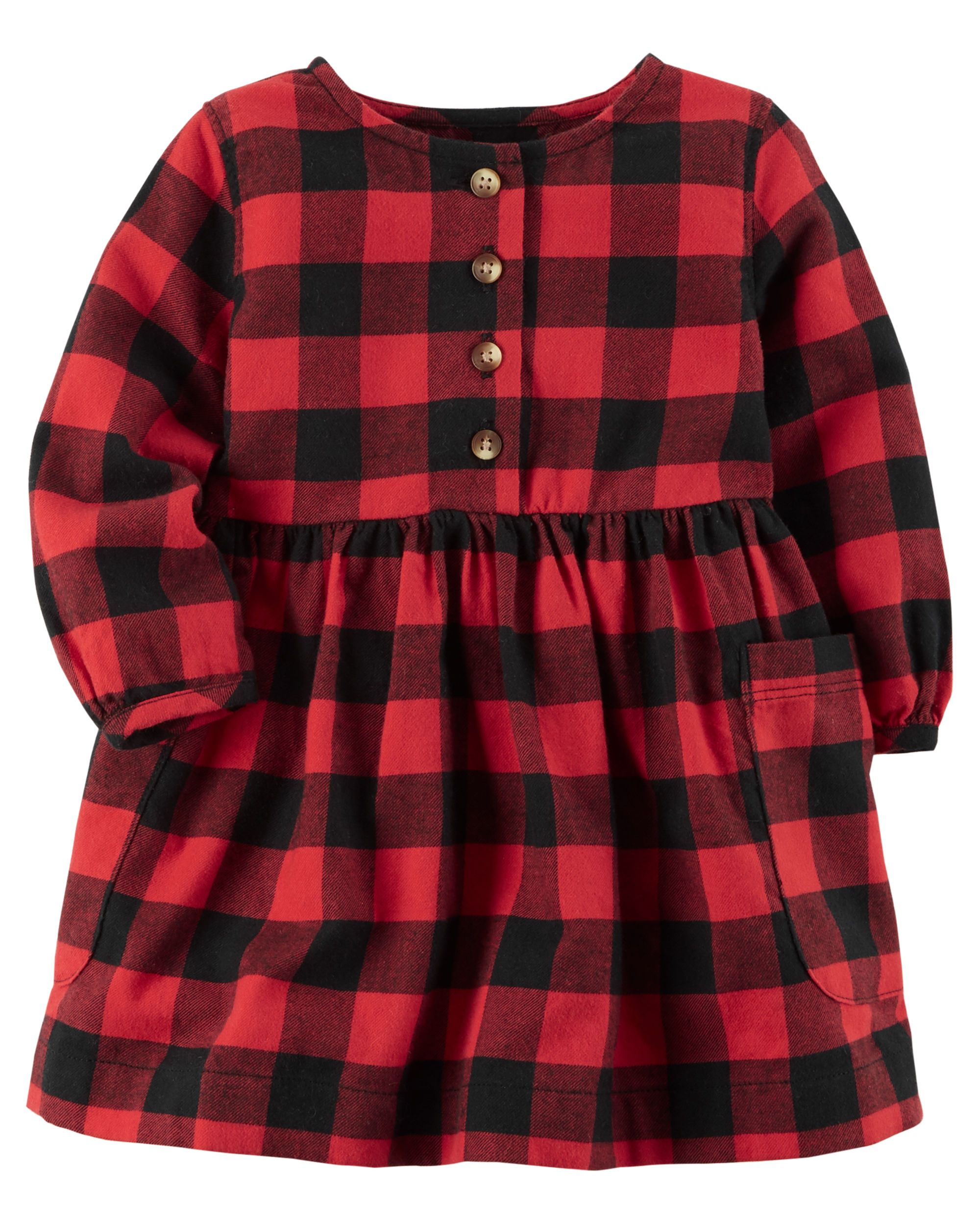 NWT Baby toddler kid GIRL dress plaid pleats CHOOSE color and size