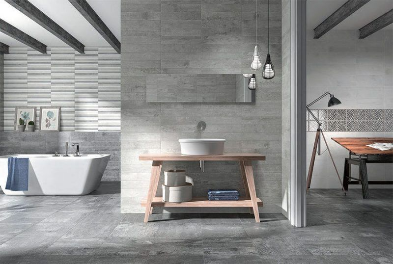 Badezimmer Mit Präzisionsmauerwerk Aus Valser Quarzit, Gespalten |  Naturstein Badezimmer | Pinterest