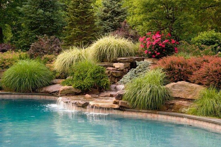 Cascadas y cataratas en el jardín - 63 ideas refrescantes Swimming