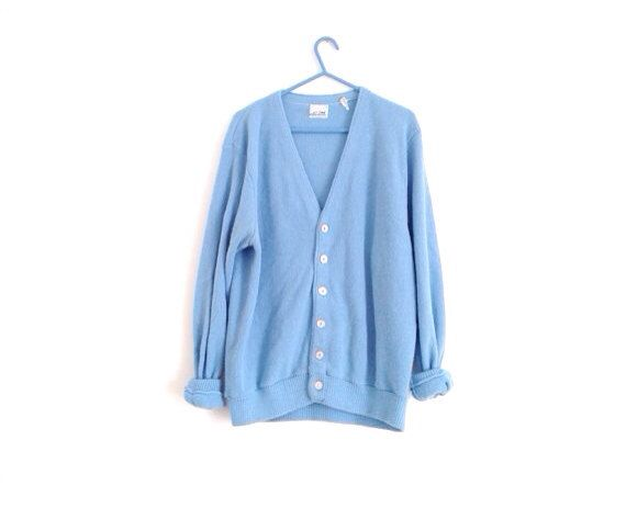 Alice in Wonderland Mens blue Cardigan // Light Blue // soft by ...