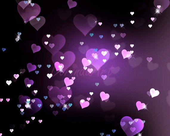heart background digital purple