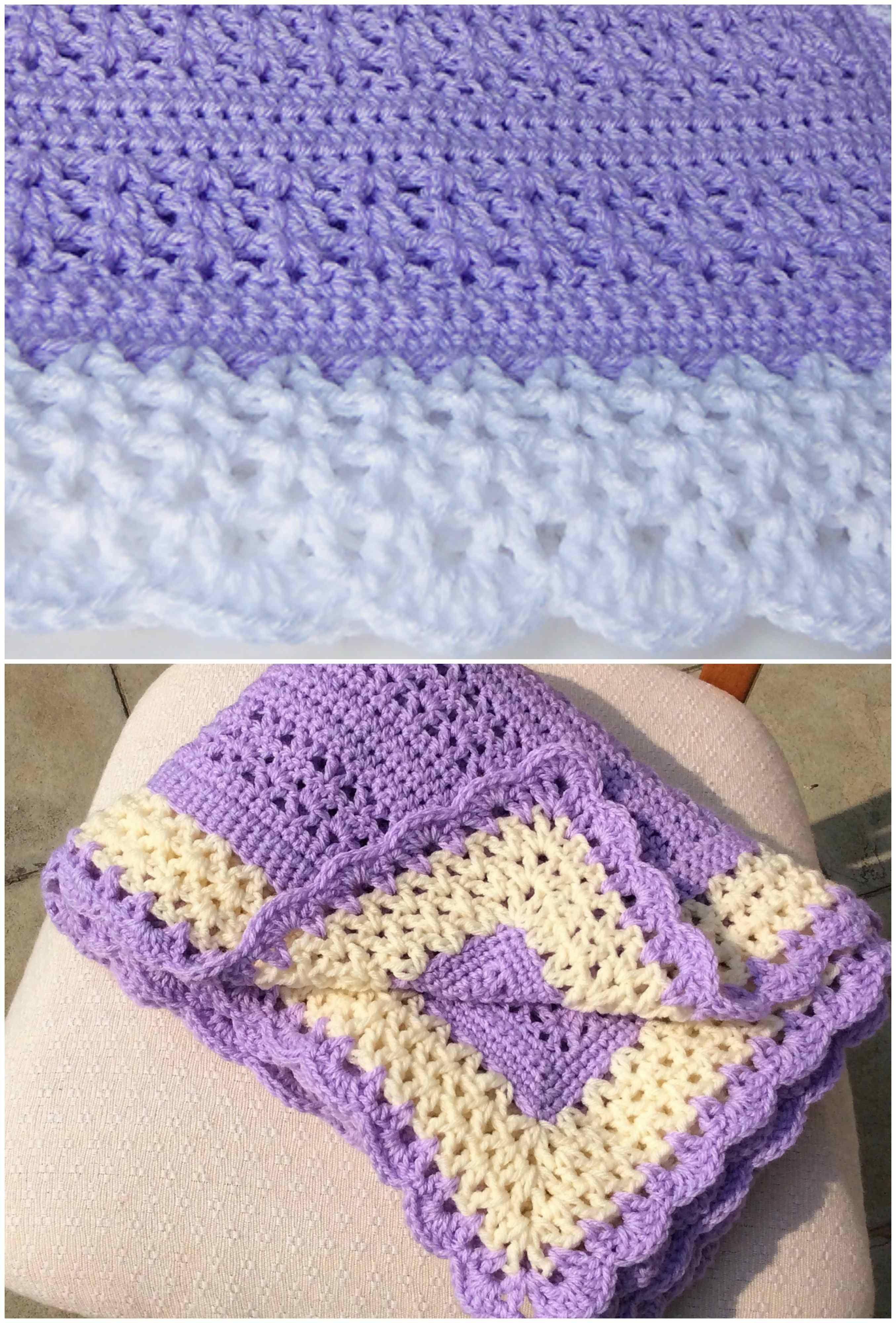 Adeline Crochet Baby Blanket [Free Pattern] | Baby Stuff | Pinterest ...