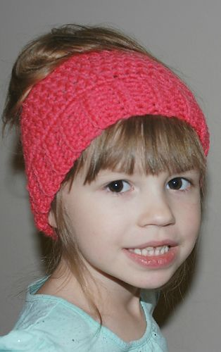 b60aea26f3334 Ravelry  Child Messy Bun Ponytail Hat pattern by Amy Lehman ...
