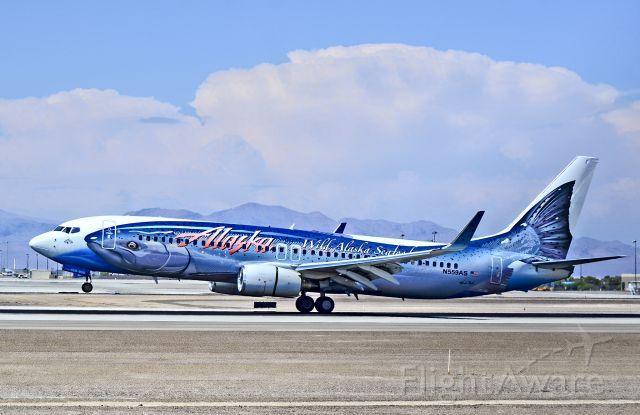Alaska Airlines Boeing 737-890 (N559AS) 'Salmon Thirty Salmon II' at Las Vegas KLAS