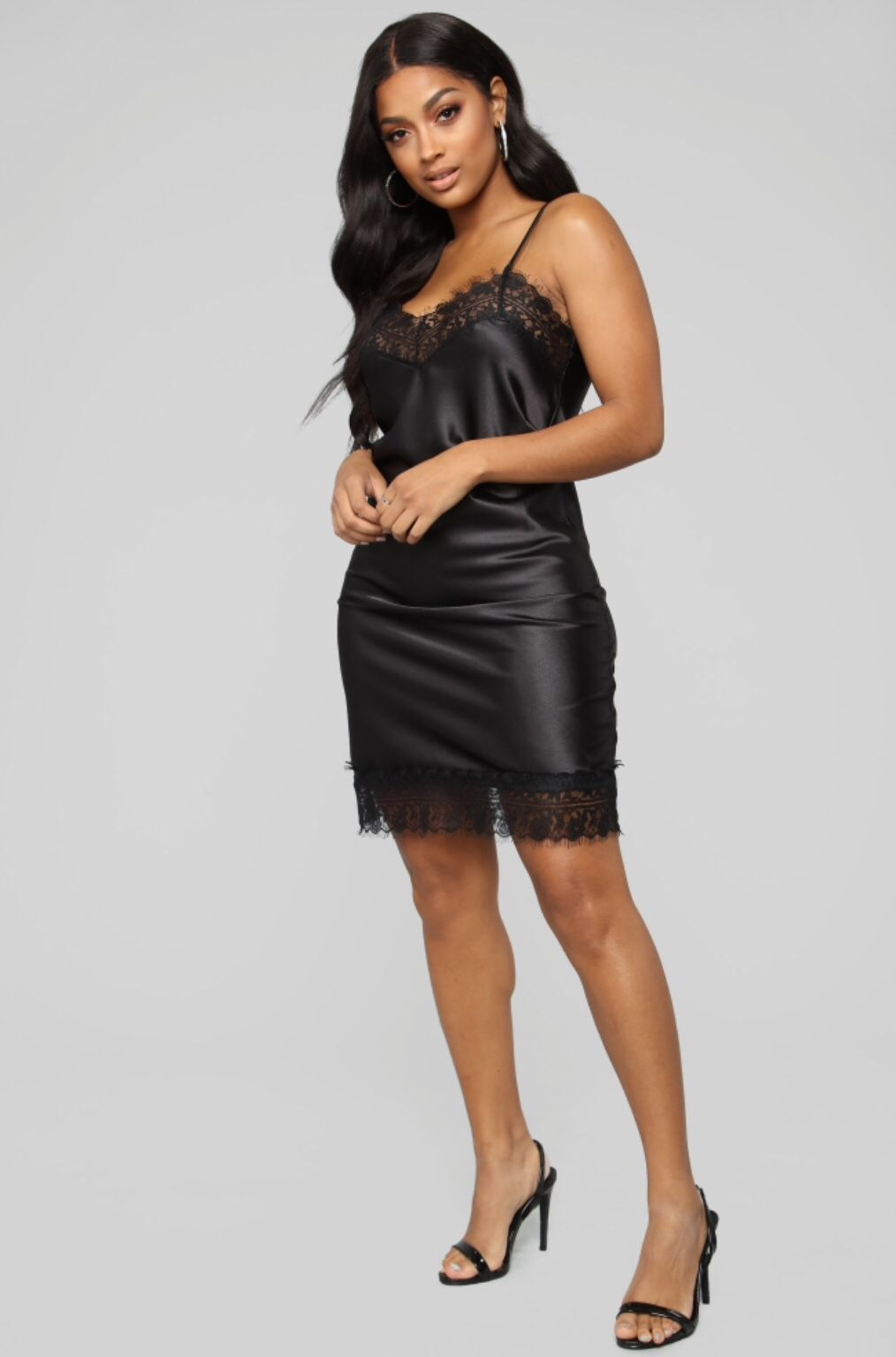 She S A Pleaser Satin Slip Dress Black Satin Slip Dress Satin Slip Slip Dress [ 1536 x 1014 Pixel ]