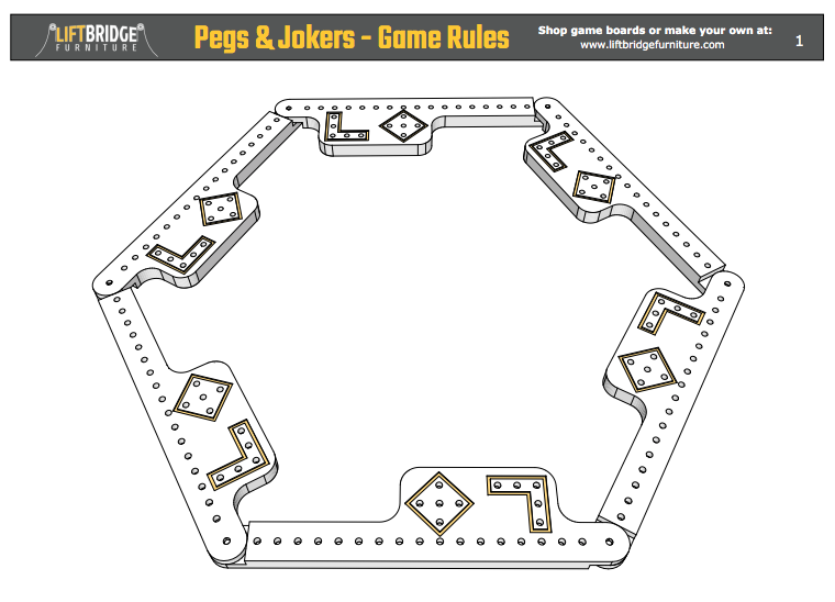 How To Play Pegs And Jokers This Pdf Guide Contains The Pegs And Jokers Game Rules Pegs And Jokers Joker Game Peg