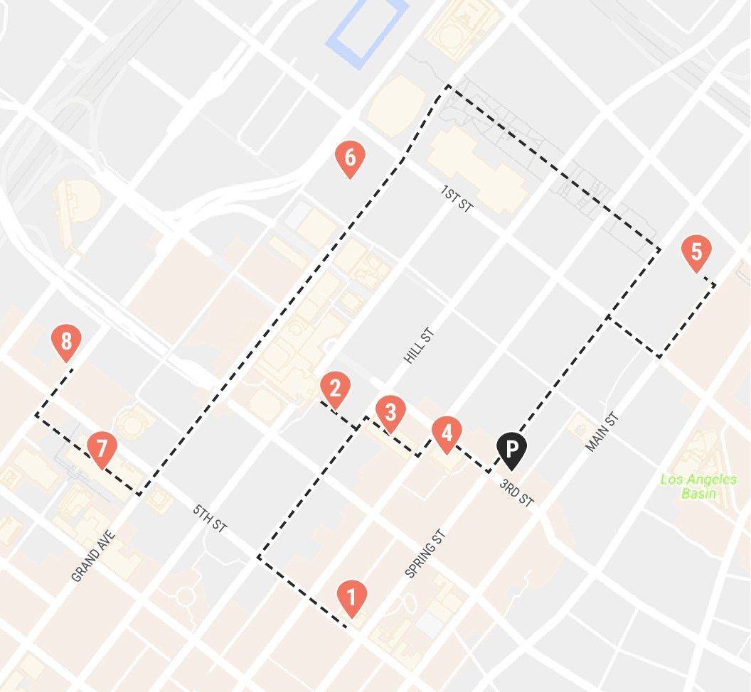A self-guided walking tour of Downtown Los Angeles   Reseplanering on