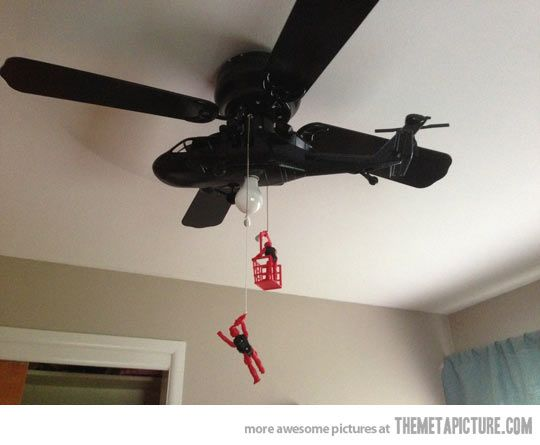 Awesome helicopter ceiling fan ceiling fan ceilings and fans awesome helicopter ceiling fan kids bedroomdiy mozeypictures Gallery