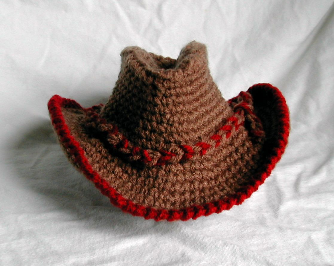 Free Crochet Character Hat Patterns Crochet Cowboy Hat Pattern