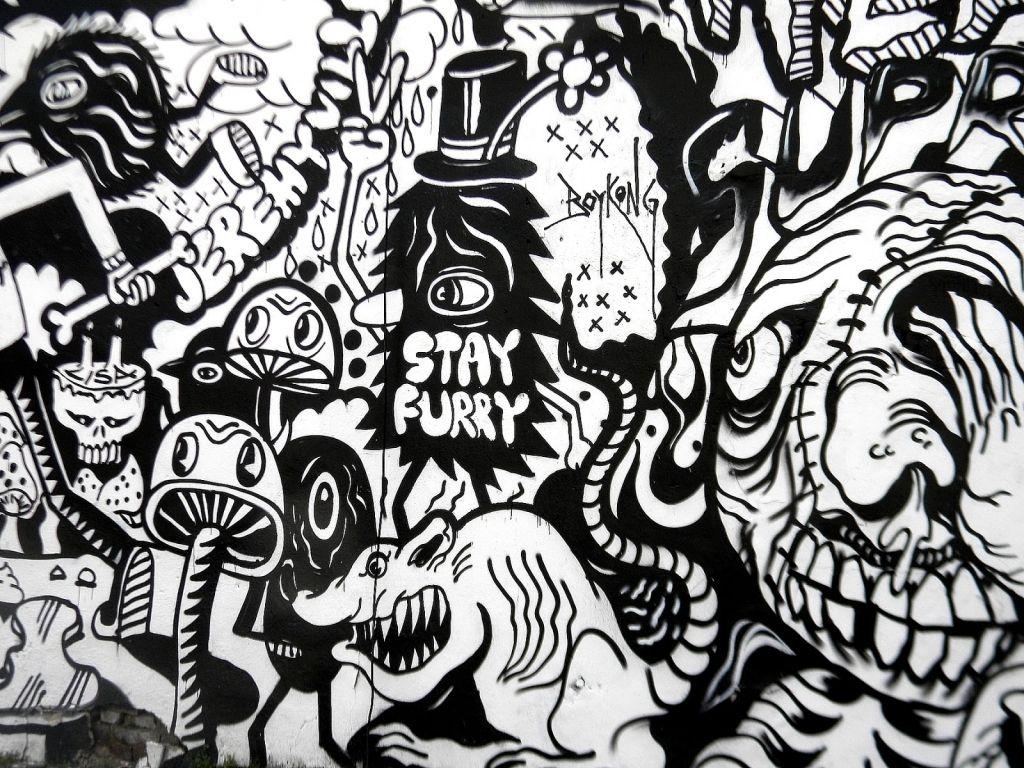 Black And White Graffiti Art Graffiti Art Black And White Phone
