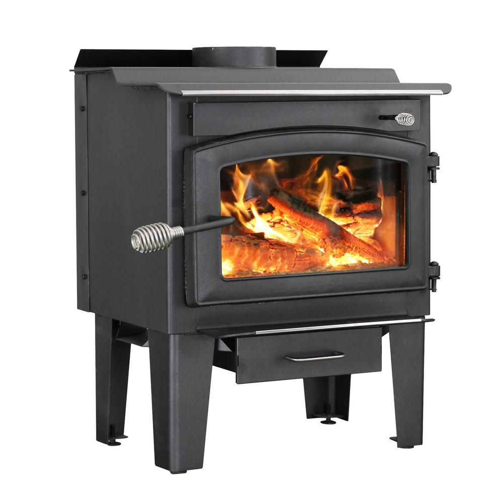 Vogelzang Defender 1 200 Sq Ft Wood Burning Stove With Blower Tr001b The Home Depot Wood Burning Stove Wood Stove Small Wood Burning Stove