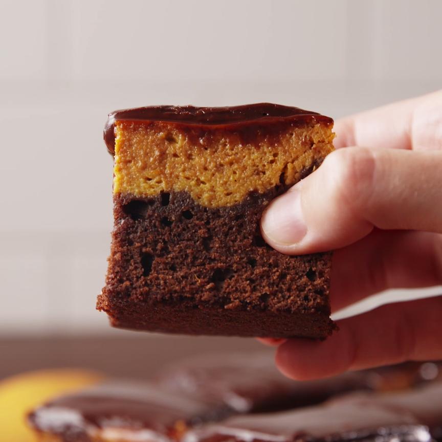 Kürbiskuchen Brownies